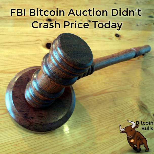 FBI Bitcoin Auction Didn't Crash Price Today