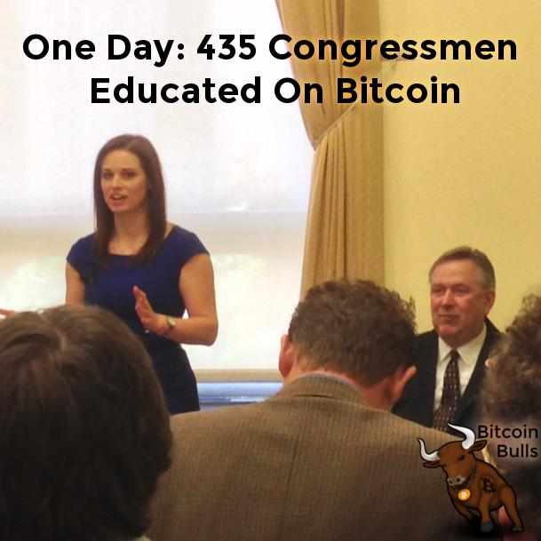 Perianne Boring and Representative Steve Stockman kick off Congressional Bitcoin Education Day