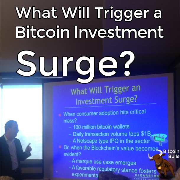 What will trigger a bitcoin investment surge?