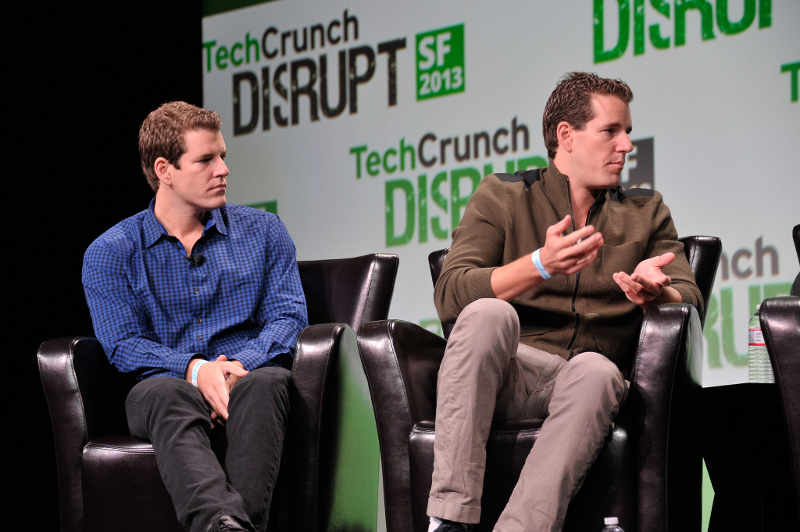 Cameron and Tyler Winklevoss at Techcrunch Disrupt